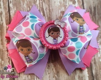 Doc McStuffins Layered Hairbow