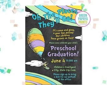 preschool graduation invitation  etsy, Quinceanera invitations