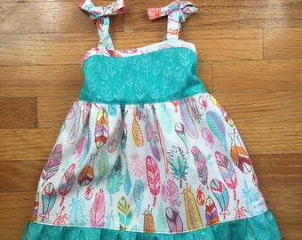 Spring Feather dress