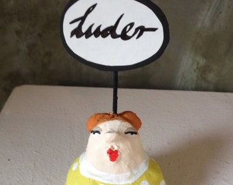 Luder. Small clay bust