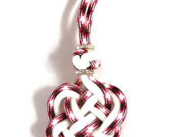 Celtic Heart Necklace, Heart Necklace, Celtic Necklace, Heart Jewelry, Celtic Jewelry, Celtic Heart Jewelry, Pink Necklace, Pink Jewelry