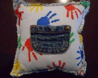 Kids Handprint Tooth Fairy Pillow