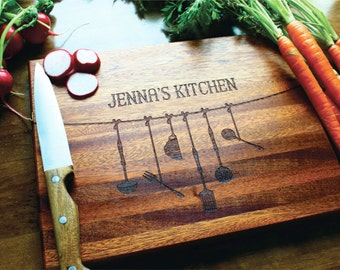 Persoanlized Cutting Board, Engraved Cutting Board, Christmas Gift, Kitchen Decor, Wedding Gift, Anniversary, Gift For Her, Gift For Mom