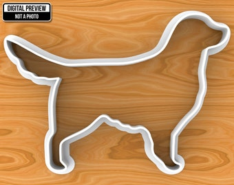 Golden Retriever Dog Cookie Cutter, Selectable sizes.