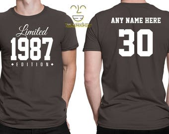 1987 Limited Edition 30th Birthday Party Shirt, 30 years old shirt, limited edition 30 year old, 30th birthday party tee shirt
