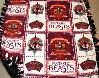 Fantastic Beasts and Where to Find Them Block Fleece Tie Blanket