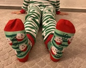 Personalized Christmas BELIEVE Socks with Santa for Kids