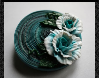 Brooches - Brooch in handmade - Gift for mother - Polymer clay jewelry - Gifts for women - Handmade jewelry - Brooch with flowers