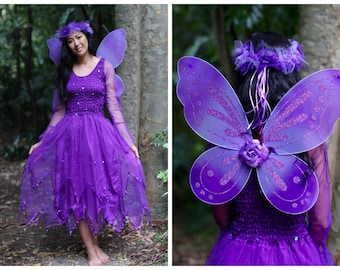 Adult Fairy Wings Costume ~ CARNIVAL~ ~ Burlesque ~ Festival ~Theatre ~ Cosplay ~ Festival ~ Theatre