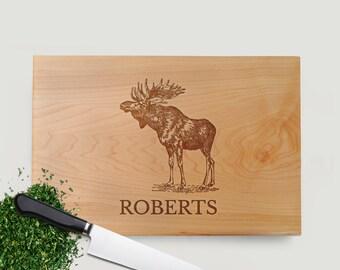 Moose Cutting Board Walnut or Maple