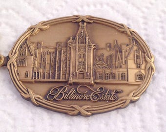Biltmore Estate Brass Keychain Keyring Key Fob