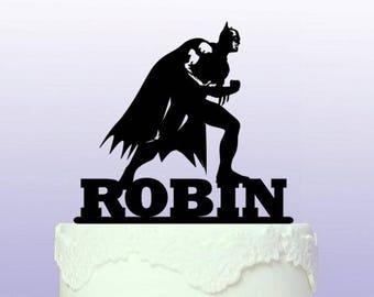 Personalised Batman Cake Topper