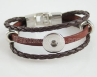 Upgraded Brown Boho Multilayered Bracelet with 6 Decorative Round Charms