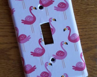 Fun Pink Flamingo Switchplate/Outlet Cover - single, double, triple, rocker