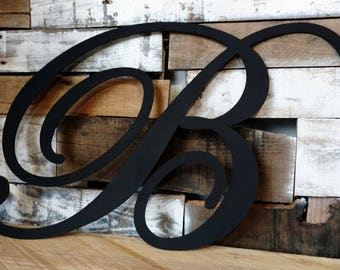 Metal wall letters etsy for Large metal monogram letters