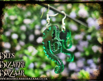 Tentacle Earrings - Steampunk