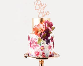 Boy Bye Glitter Topper- Cake / Cupcake / Centerpiece / Decoration