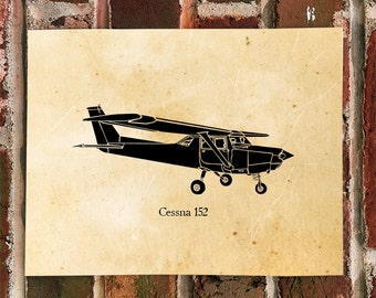 KillerBeeMoto: Limited Print Cessna 152 Aircraft Print 1 of 100