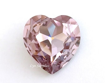 4827 LIGHT AMETHYST 28mm Swarovski Crystal Heart Fancy Stone No Hole
