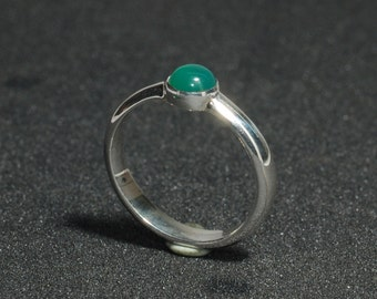 Green Agate, Handmade, 925, Sterling Silver, Ring. Made to order