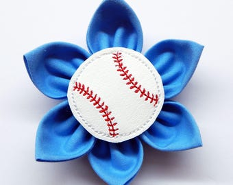 Baseball Collar Flower for Dogs and Cats