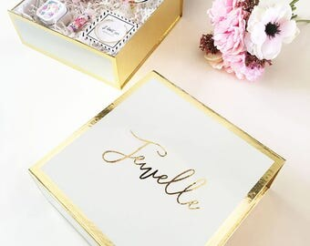 Bridesmaid Box Personalized Bridesmaid Gift Box Wedding Keepsake Box Custom Bridesmaid Gift Box PERSONALIZED EMPTY BOX