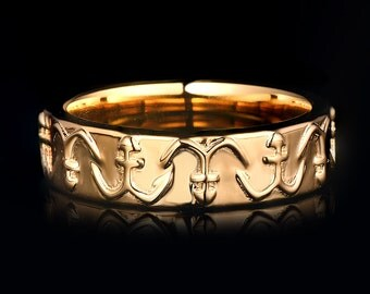 Solid yellow gold man's ring CYR-11Y