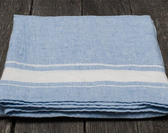 Blue linen bathroom towel, blue linen towel, pure linen towel, rustic linen towel, blue flax towel, eco friendly towel, flax bathroom towel