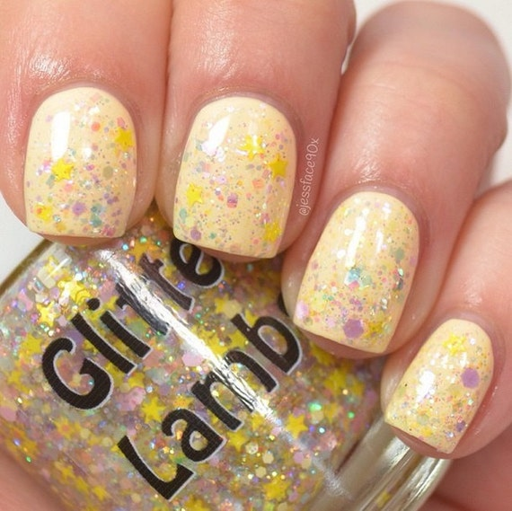 Honey Yellow Nail Polish: Golden Honey Foundation Nail Polish Glitter By