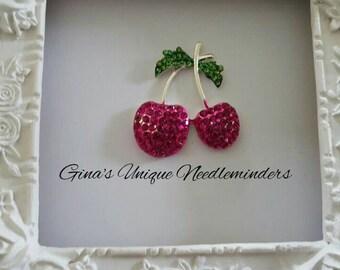Pink Cherries Needle Minder
