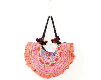 Hmong bag (0010) Hmong embroidery bag Hmong tote bag Embroidery bag Hmong Ethnic bag Hippie bag Ethnic embroidery bag Hippie embroidery bag