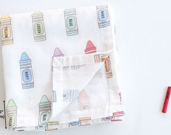 Double Gauze Fabric Crayon By The Yard