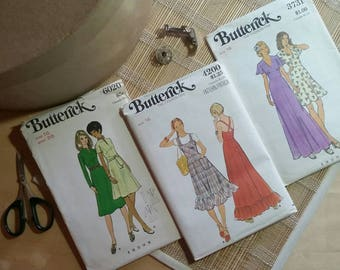 Butterick 70s Vintage Patterns 6020 - 4200 - 3731