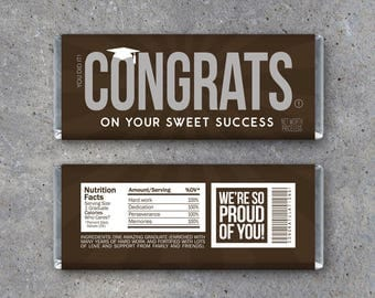 Graduation CONGRATS Candy Bar Wrappers–Printable Instant Download-DIY Hershey Wrapper-Graduation Party Favors-Graduation gift idea-gift tags