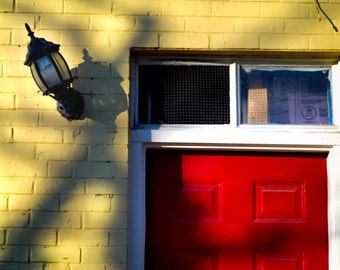 Baltimore Street Lamp and Door Photograph | Pack of Notecards or Postcards
