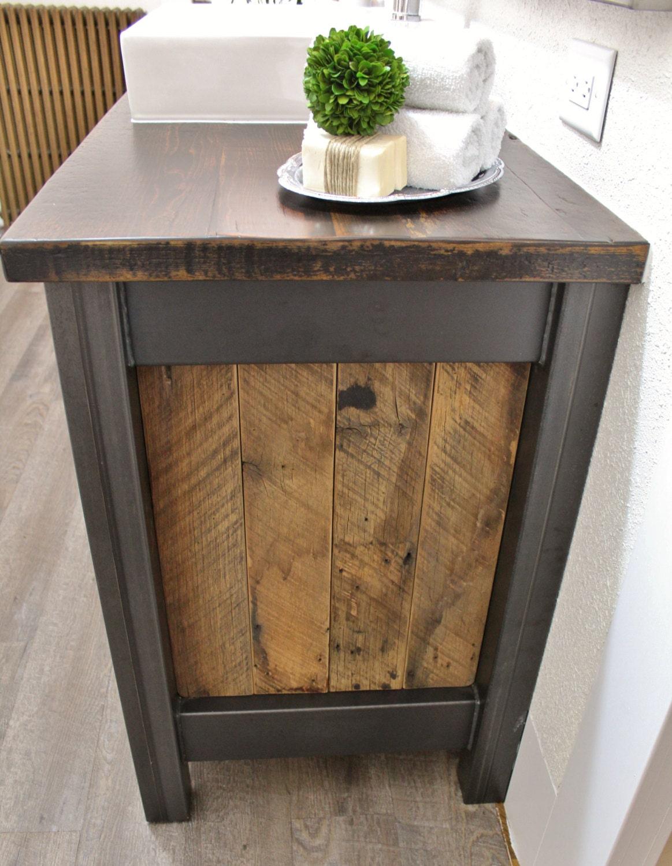 Rustic Industrial Vanity Reclaimed Barn Wood Vanity
