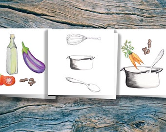 3x3 Kitchen Variety Pack - 3 Cards