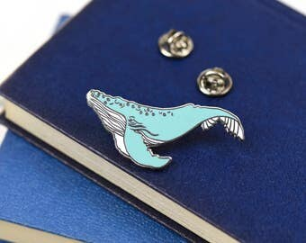 2 Inch Humpback Whale Luxury Hard Enamel Pin