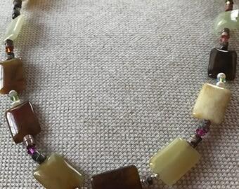 SALE!!Soocho Jade and Swarovski crystals  necklace.
