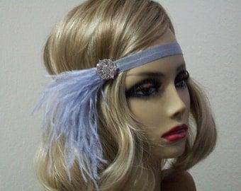Great Gatsby headpiece, Silver 1920s headband, Flapper headband, Gatsby headband, New Years Eve headband,  Roaring 20s, 1920s hair accessory