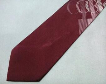 Vintage Calvin Klein Necktie Signature Pattern Silk Tie Made In Japan