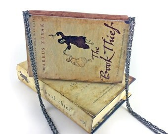 "The Book Thief Clutch Bag, Markus Zusak, The Book Thief gift, Book Thief bag, Book Thief clutch, Book Clutch, ""I am haunted by humans"""