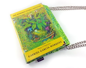 """One Hundred Years of Solitude, Gabriel García Márquez, Book purse, Literary gift, """"...time was not passing...it was turning in a circle..."""""""