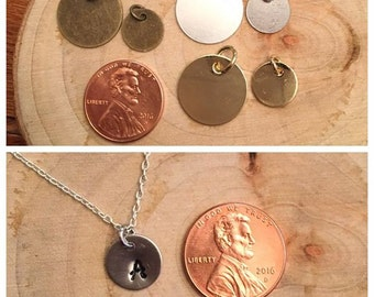 Customized Metal Stamped Disk Necklace