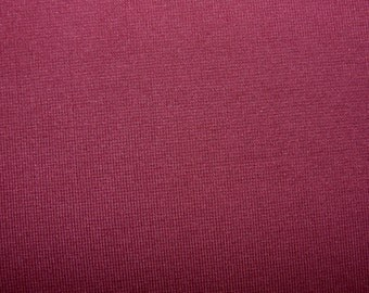Fabric - Cotton/elastane rib fabric - 500gsm - burgundy