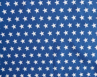 Fabric - Jersey fabric - Royal blue small star print knit - Cotton/elastane