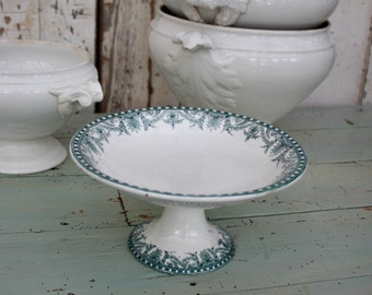 French Ironstone / French Transferware / Cake Stand / Moulin des Loups / Transferware / Ironstone / French Kitchen / Patisserie Stand