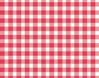 Checks - Geranium (Pink) by Maywood Studio (610-PP1) Cotton Fabric Yardage