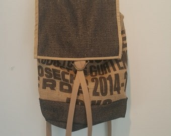 Reloved Coffee Sack Backpack - Upcycled