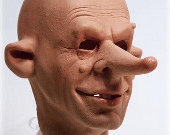 "Original latex mask face Greyland Film ""NUDLAK"" Nr.054"